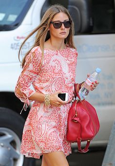 Olivia Palermo in red and white mini  - inspiration via blossomgraphicdesign.com #boutiquedesign