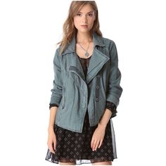Free People Slate Linen Blend Moto Jacket 🎉{HP}🎉NWT on trend Free People slate lovely in linen blend moto style jacket is perfect paired with a dress or jeans. This jacket features a snap opening,  two front zip pockets, and zipper detail on the sleeves. The color is slate which is a gray with a slight green tint to it!  *55% linen/45% cotton *Machine wash *XS 0-2 (should also fit size small)  *Bundle discounts, smoke-free, no trades Free People Jackets & Coats Jean Jackets
