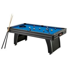 Inch Pool Table Billiard Game Room Set Accessories Ball Cues Pub - 7 inch pool table