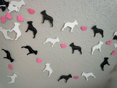 Boston Terrier Love Paper Garland  by HookedonArtsNCrafts on Etsy, $10.00