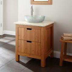 "24"" Torrance Bamboo Vessel Sink Vanity - Bathroom Vanities - Bathroom"
