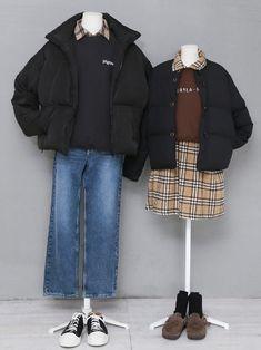 마리쉬♥패션 트렌드북! Kpop Outfits, Korean Outfits, Boho Outfits, Cute Outfits, Fashion Outfits, Matching Couple Outfits, Matching Couples, Korean Fashion Men, Womens Fashion