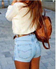 High waisted shorts <3
