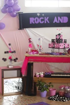 Decoraçao Festa Rock and Roll