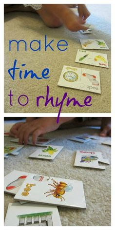 make time to rhyme: #rhyme games for bigger kids #weteach