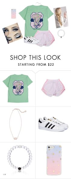 """Wish I was home.."" by lexi-patterson-1 ❤ liked on Polyvore featuring Itsa Girl Thing, Kendra Scott, adidas and Sonix"