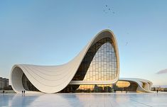 Zaha Hadid's Heydar Aliyev Center has beaten out seven shortlisted designs to win London Design Museum's Designs of t. Zaha Hadid Architecture, Zaha Hadid Buildings, Zaha Hadid Interior, Parametric Architecture, Famous Architecture, Futuristic Architecture, Sustainable Architecture, Chinese Architecture, Architecture Office