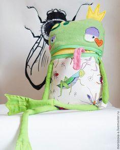 Купить Лягушка - царевна - ярко-зелёный, лягушка, царевна, монстрик, подарок, для детей, для дома и интерьера