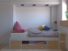 Kid's room. Girl room. Camera copil. Pat copil. Girl Room, Design Projects, Toddler Bed, Interior Design, Furniture, Home Decor, Child Bed, Design Interiors, Girl Rooms