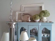 top of china cabinet vignette
