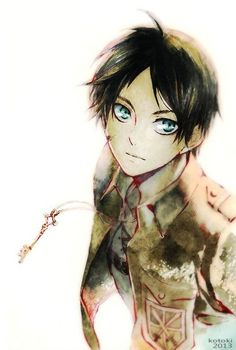 Eren Jaeger from Attack on Titan (Shingeki no Kyojin) If only he were real *goes and cries in a corner*