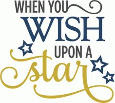 Silhouette Online Store - View Design #60371: when you wish upon a star phrase