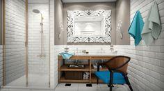 bathroom design, Weathered Oak Double Washstand, WHITE DAFNE mirror, design interior by Nataly Yanson, iamhome.