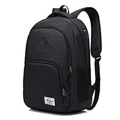 Buy AUGUR Laptop College Backpack Waterproof Lightweight Minimalism with USB Charging Port Business School Book Bag Travel Hiking Camping Outdoor Daypack Rucksack Fits Notebook (Black) Waterproof Laptop Backpack, Laptop Rucksack, Laptop Bags, Canvas Backpack, Backpack Bags, Jansport Superbreak Backpack, Gear Best, Best Luggage, Usb