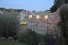 Hochzeitsdeko - Windlichtstecker Garten Hochzeit Weckglas-Stecker - ein Designerstück von majalino bei DaWanda
