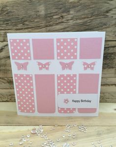 Handmade Birthday Card Happy Birthday butterfly mum