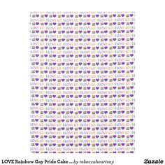 LOVE Rainbow Gay Pride Cake LGBT Wedding Decor