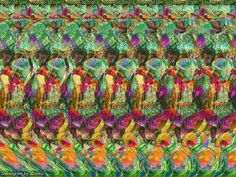 I'm insanely good at seeing hidden images in magic eye posters. can anybody eles see the squirrel? Hidden 3d Images, Hidden Pictures, Magic Eye Pictures, 3d Pictures, Magic Illusions, Optical Illusions, Magic Eye Posters, 3d Stereograms, Illusion Kunst