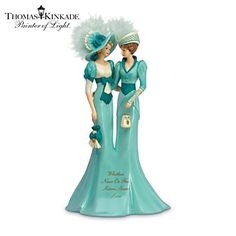 Thomas Kinkade Ladies & Angels | Whether Near Or Far, Sisters Share Love Figurine