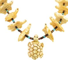 Zuni Turtle Fetish Necklace - Necklaces - Jewelry - Gifts & Accessories - Decor & Entertaining One Kings Lane One Kings Lane, Traditional Living Room Furniture, Jewelry Gifts, 1970s, Turtle, Necklaces, Entertaining, Accessories, Decor