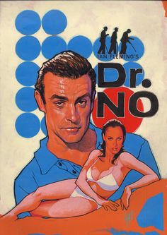 No starring Sean Connery & Ursula Andress — The first James Bond film based on the 1958 Ian Fleming novel James Bond Movie Posters, James Bond Movies, Cinema Posters, Adam Hughes, Bond Girls, Old Movies, Vintage Movies, Vintage Posters, Soirée James Bond