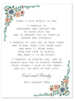 Nice vows!                                                                                                                                                      More