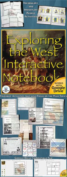 Exploring the West Interactive Notebook, which works for both print and Google Drive™, investigates and helps gain understanding of how the United States obtained and explored the land to the West for migration. Geared as a unit in the 5th grade study of United States History.