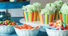 cupcake wrappers around the ice cream cup! This site has a million uses for cupcake wrappers.