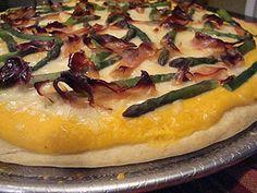 Asparagus Prosciutto Pizza | my kitchen addiction