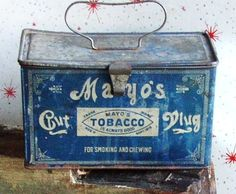 Tobacco tin from the early 1900's.