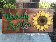"custom ordered board for an upcoming wedding - measures 24"" x 12"". #stringart #weddingdecor  Facebook.com/strungbyshawna"