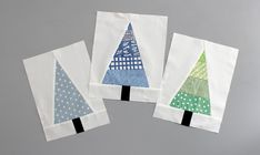 Get Scrappy (And Happy!) With This Modern Christmas Tree Block Modern Christmas Tree Block Tutorial Christmas Tree Quilt Block, Cute Christmas Tree, Modern Christmas, Christmas Paper, White Christmas, Christmas Quilting, Christmas Patchwork, Christmas Crafts, Coastal Christmas