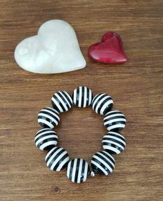 Bracelet white and black
