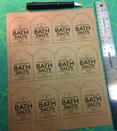 FREE DOWNLOAD FRIDAY, WEEK 3 – Lavender/Mint Scented Bath Salts Labels
