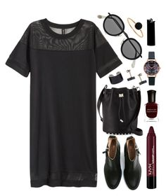 Untitled #213 by clary94 on Polyvore featuring H&M, Acne Studios, Alexander Wang, Topshop, Maison Margiela, Ginette NY, Miss Selfridge, Deborah Lippmann and NYX