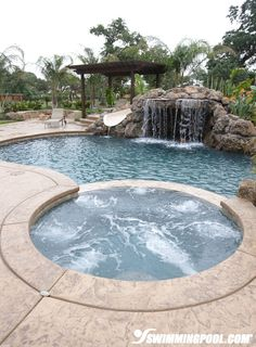 Pool Designs With Rock Slides tropical backyard pool spa ideas youtube Pool With Rock Waterfall And Slide