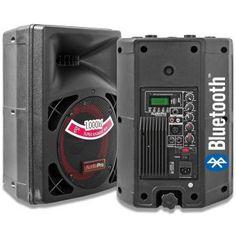 2 Cabinas de Sonido Audiopro PRO400 2000W Profesional Activo Bluetooth Usb  - Negro