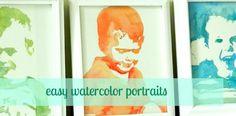 Easy Watercolor Portrait Tutoria