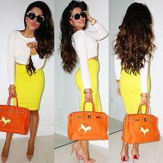 Leyla Milani Khoshbin @leylamilani Citrus-y look tod...Instagram photo | Websta (Webstagram)