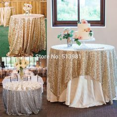 "Sparkly Gold/Silver 40''x59"" Sequin Glamorous Tablecloth/Fabric For Wedding Party Event Table Decorations-in Table Cloth from Home & Garden on Aliexpress.com 