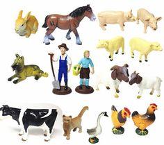 (26.91$)  Watch now  - 1.28 Environmental simulation poultry animal model baby cognitive toys sandbox Home Decoration pvc figure 16 pcs/set