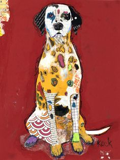 """Like subject! Saatchi Online Artist: Michel Keck; Paper, 2013, Assemblage / Collage """"Dalmation"""""""