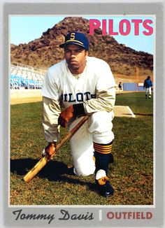 Tommy Davis in the now defunct Seattle Pilot uni. Major League Baseball Teams, Sports Teams, Baseball Star, Baseball Cards, Mlb Uniforms, Sports Photos, Baseball Photos, Baseball Birthday, American League