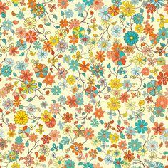 Wandering Floral - Aqua Mural - Jenean Morrison| Murals Your Way - Removable Wallpaper