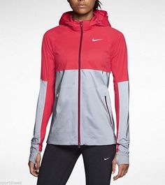 NIKE RUNNING JACKET SHIELD FLASH WOMEN'S XS REFLECTIVE 619026 660 3M DRI FIT  #Nike #CoatsJackets