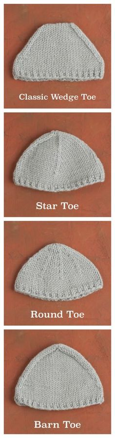 Each method for working top-down sock toes creates a slightly different look and shape. Learn four different toe-types that vary in decreases per round, position and direction of decreases, and frequency of decreases.