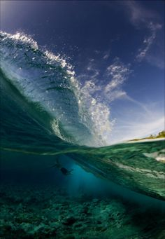 Clear Wave  Via Tumblr