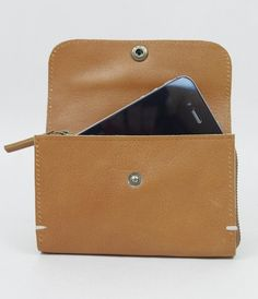O-CHECK Leather - Smart Wallet - Brown (for iPhone) | NoteMaker - Australia's Leading Online Stationery Shop