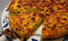 Tarte aux poireaux et au chorizo WW pour bien commencer la semaine, recette d'une savoureuse tarte salée, assez facile à réaliser pour un repas gourmand accompagné d'une salade.