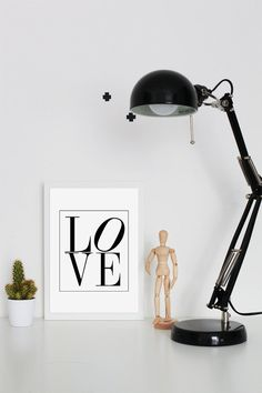 LOVE Printable Poster  Wall Art   Love print  by VisualPixie